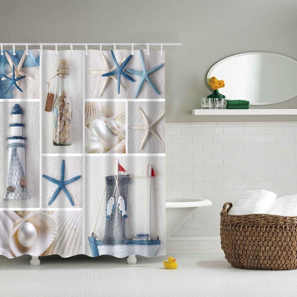 cortinas de baño divertidas - Silueta femenina