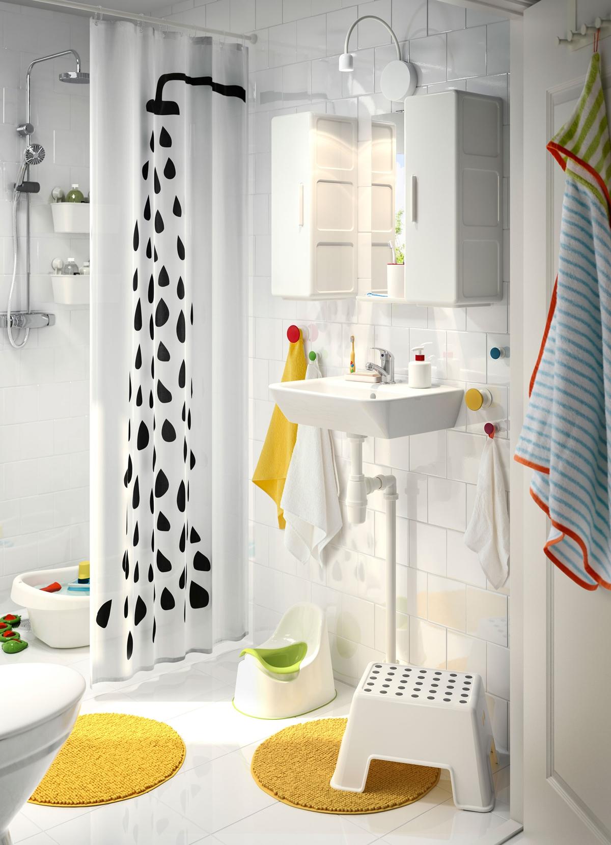 cortinas de baño divertidas - en blanco y negro