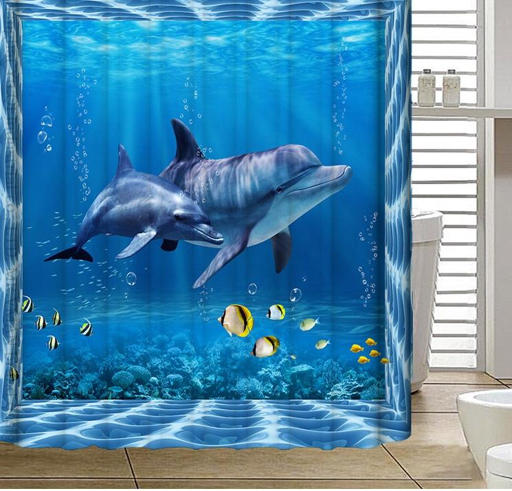 cortinas de baño divertidas - Mundo submarino