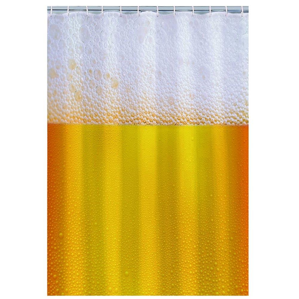 cortinas de baño divertidas - jarra de cerveza