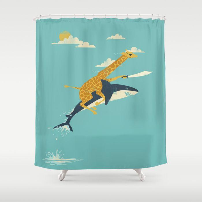 cortinas de baño divertidas - dibujos de animales