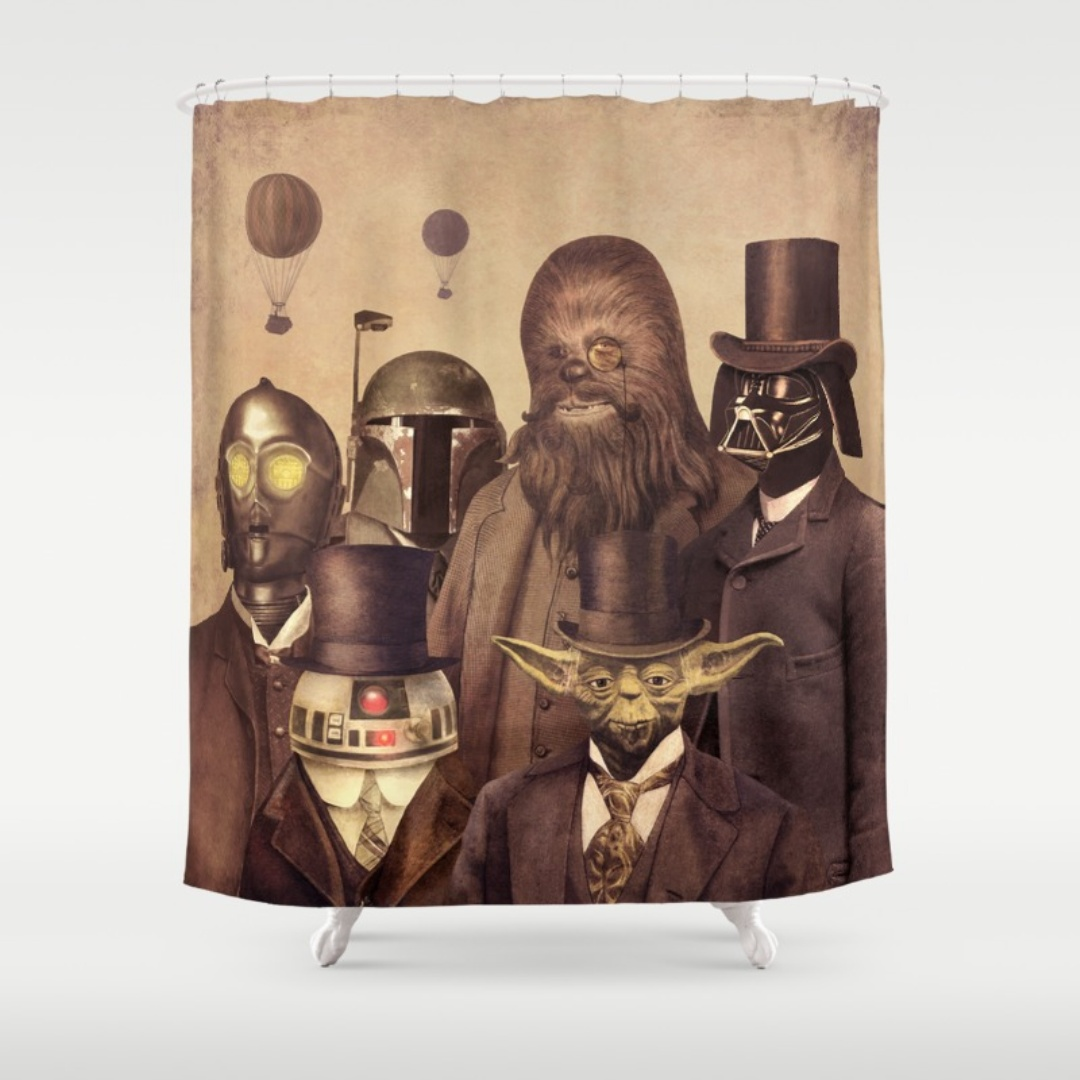cortinas de baño divertidas - Star Wars