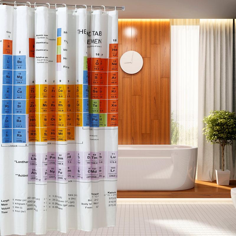 cortinas de baño divertidas - La tabla periódica