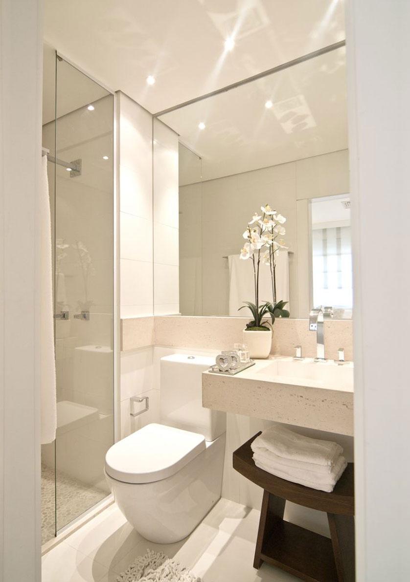 cuartos de baño pequeños - gran espejo