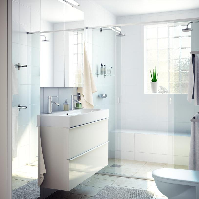 cuartos de baño pequeños - muebles suspendidos