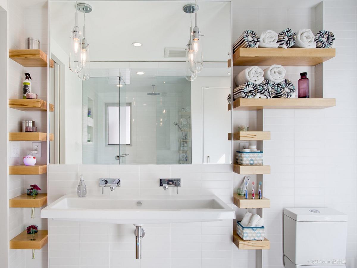 cuartos de baño pequeños - estantes