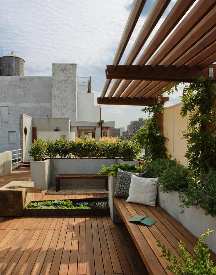 decoración de áticos - terrazas modernas