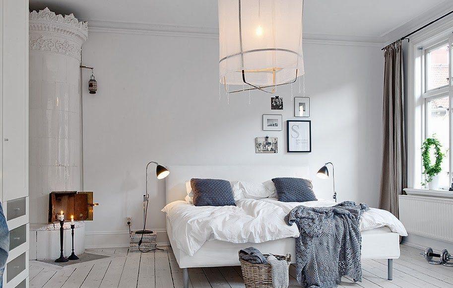 dormitorios blancos - estilo nórdico