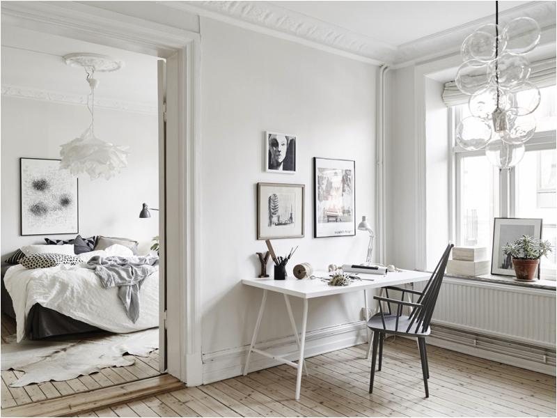 dormitorios blancos escandinavos