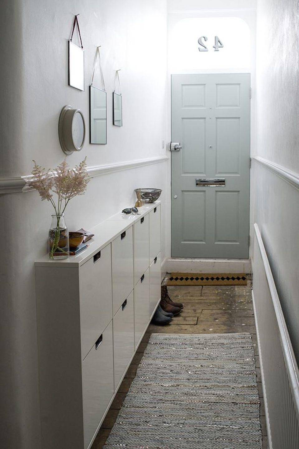 mueble recibidor pequeño para espacios reducidos