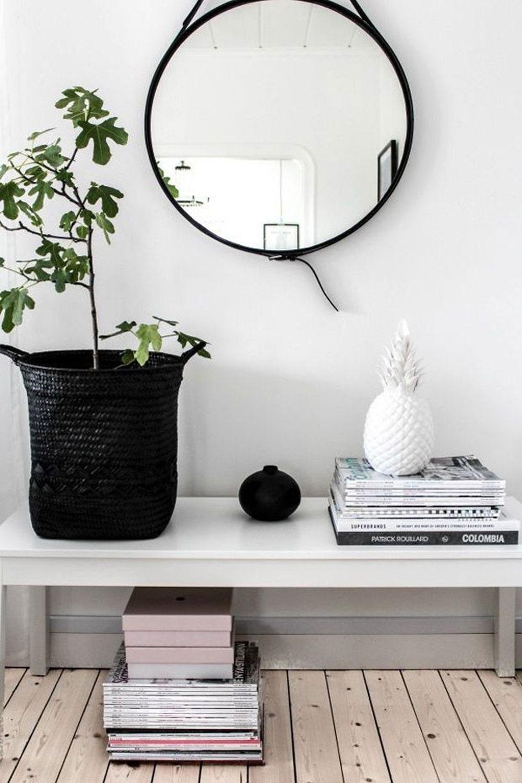 mueble recibidor pequeño - espejos