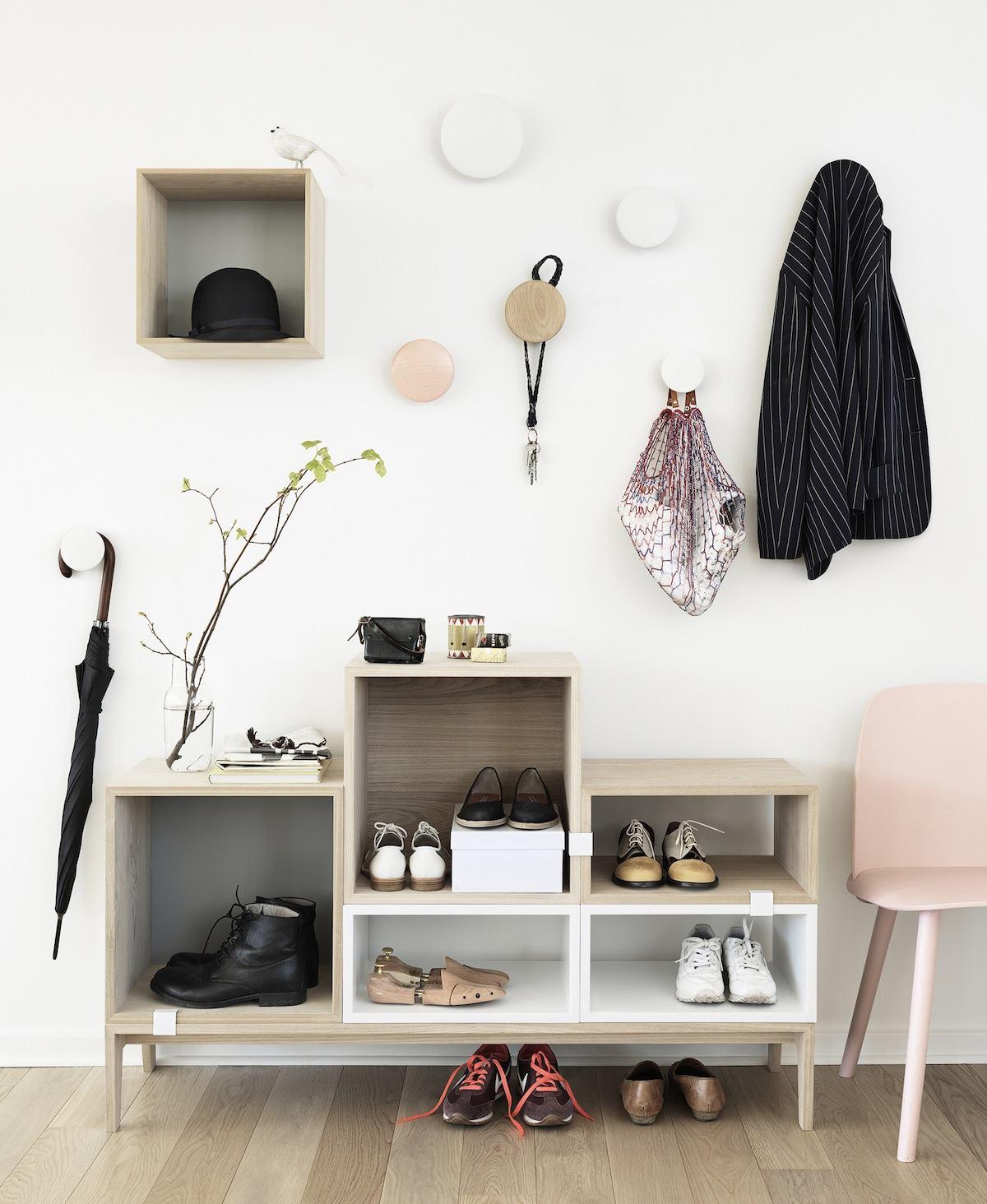 mueble recibidor pequeño - organizar el recibidor