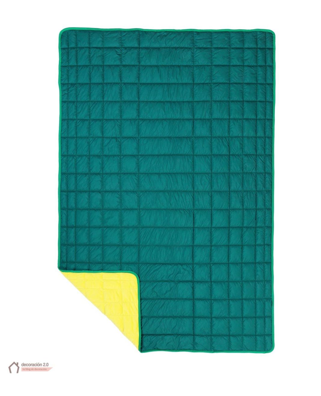 ikea coleccion ps 2017 pe593883 manta poliester verde amarillo 1