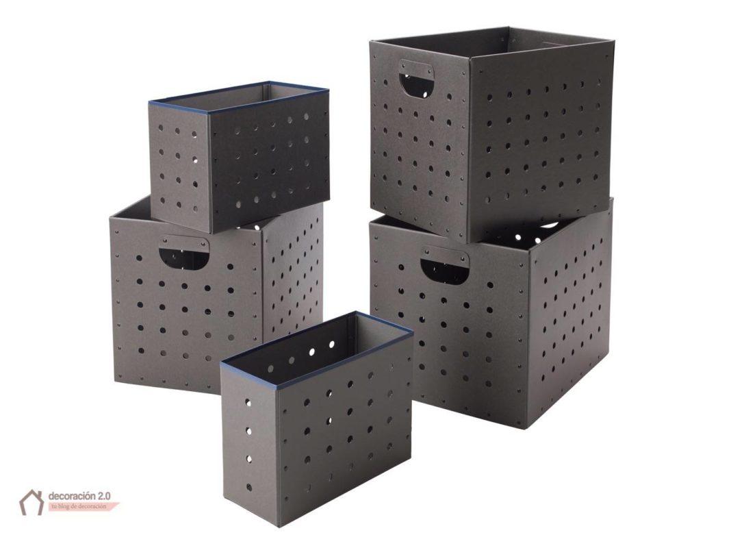 ikea coleccion ps 2017 pe597088 juego cajas carton macizo recuperado gris