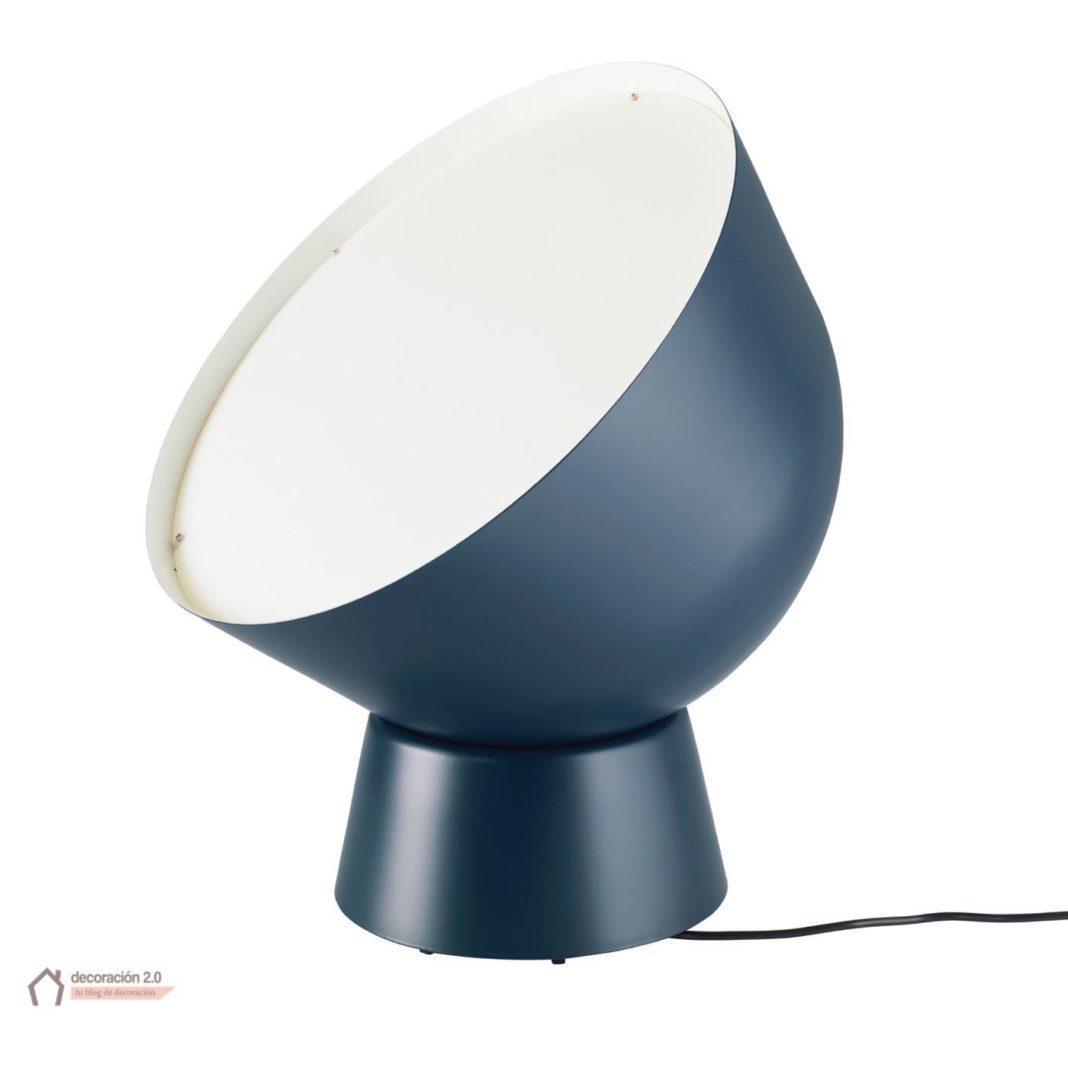ikea coleccion ps 2017 pe597098 lampara mesa acero lacado plastico azul oscuro