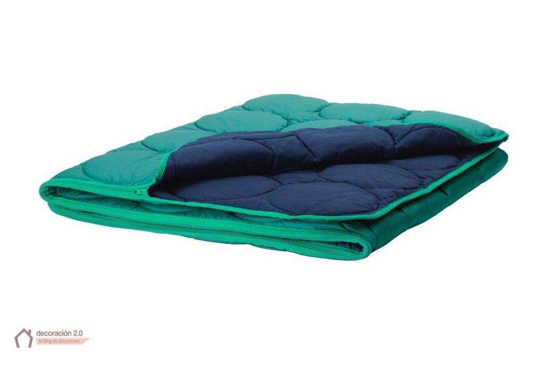 ikea coleccion ps 2017 pe613748 saco dormir poliester lyocel algodon verde azul oscuro