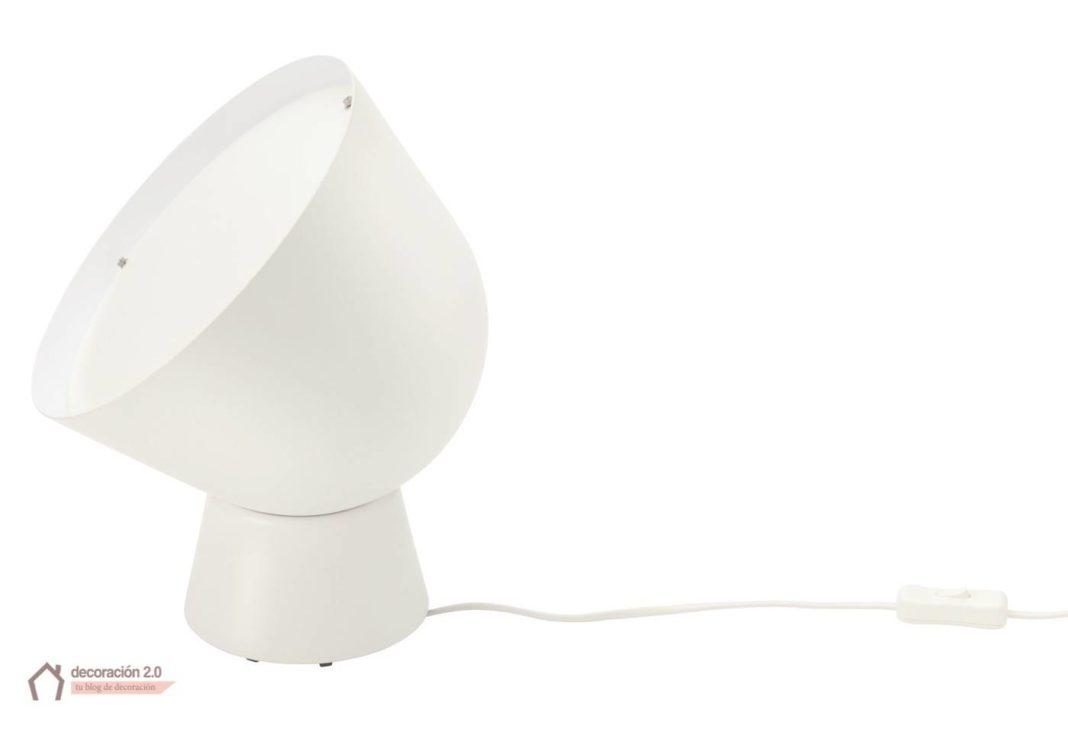 ikea coleccion ps 2017 pe614104 lampara mesa acero lacado plastico blanco