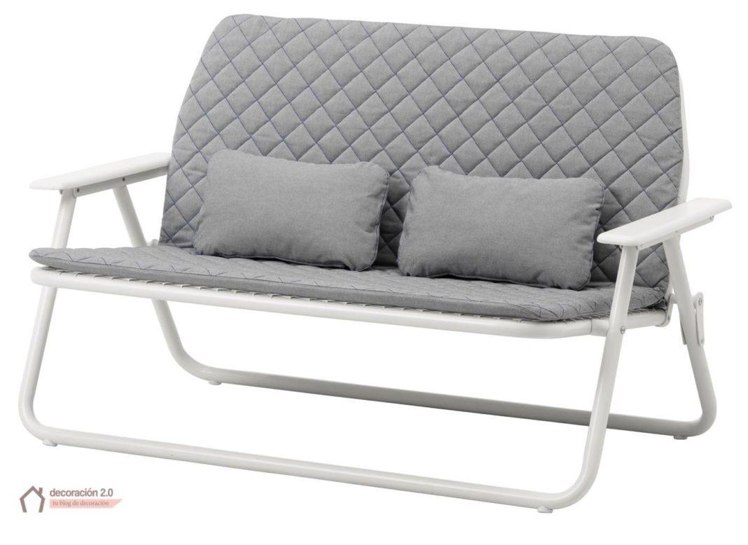 ikea coleccion ps 2017 pe628760 sofa 2 plazas plegable plegable acero revestimiento poliester