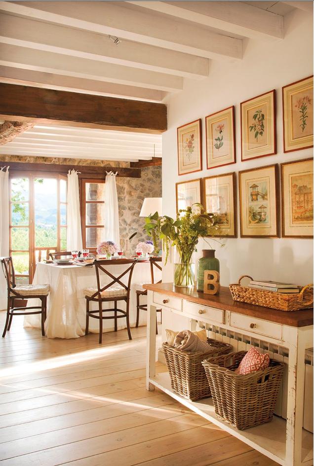 decoración de las casas rústicas - complementos