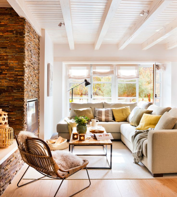 decoración de las casas rústicas modernas