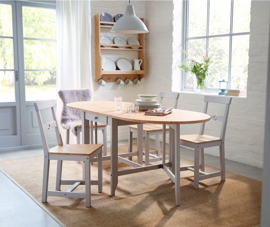 mesas de comedor plegables - GAMLEBY