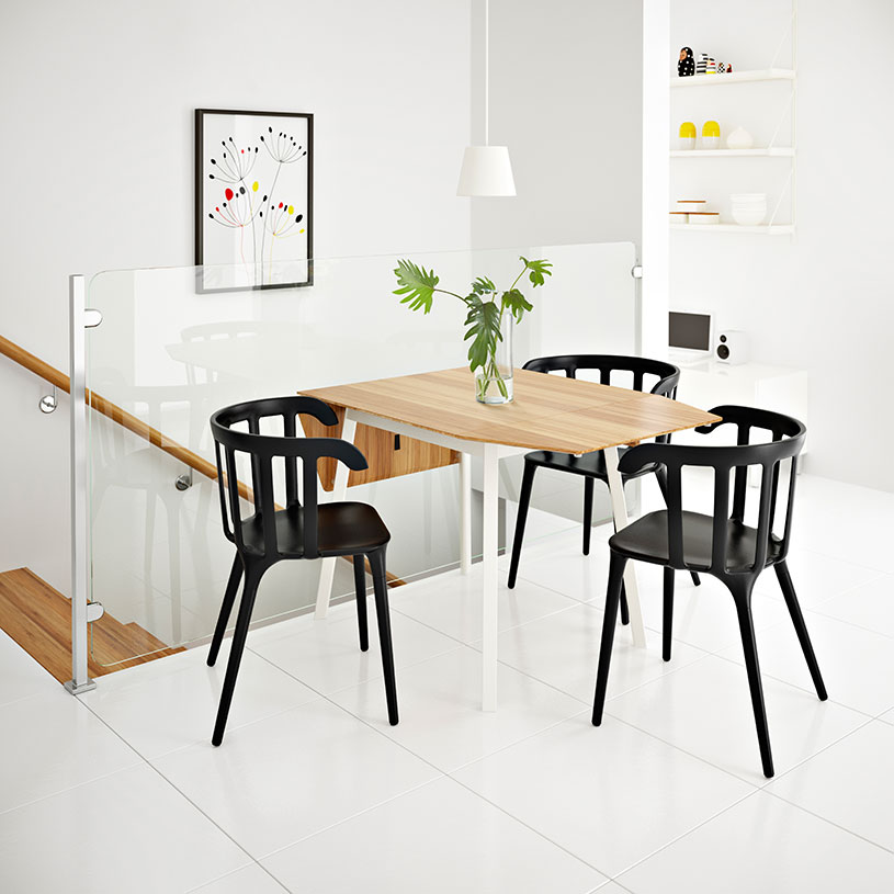 Mesas de comedor plegables que solucionan los problemas de espacio