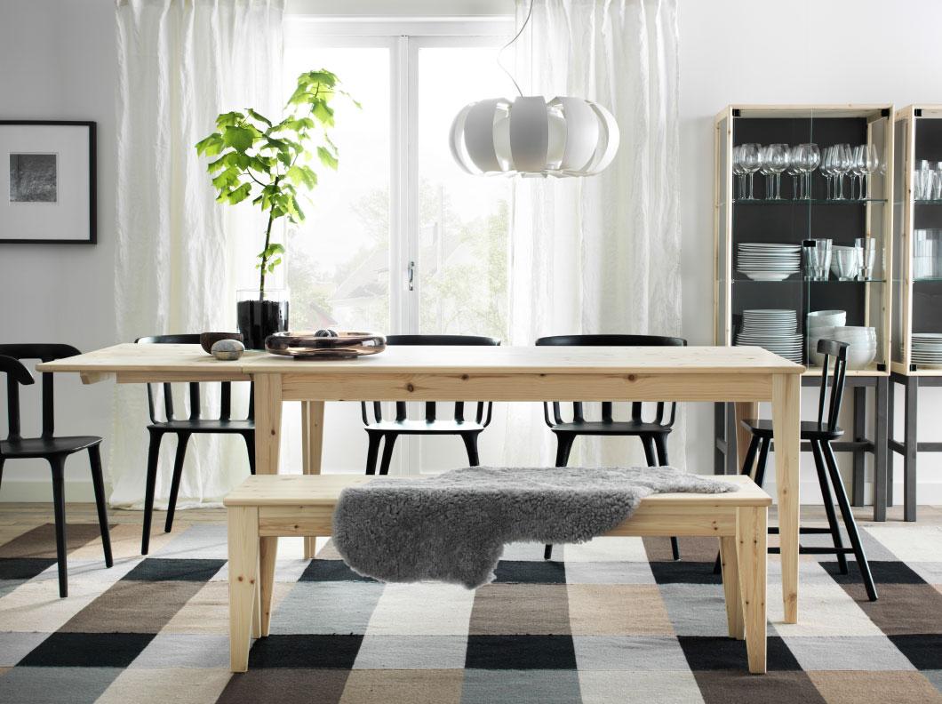 mesas de comedor plegables - NORNÄS