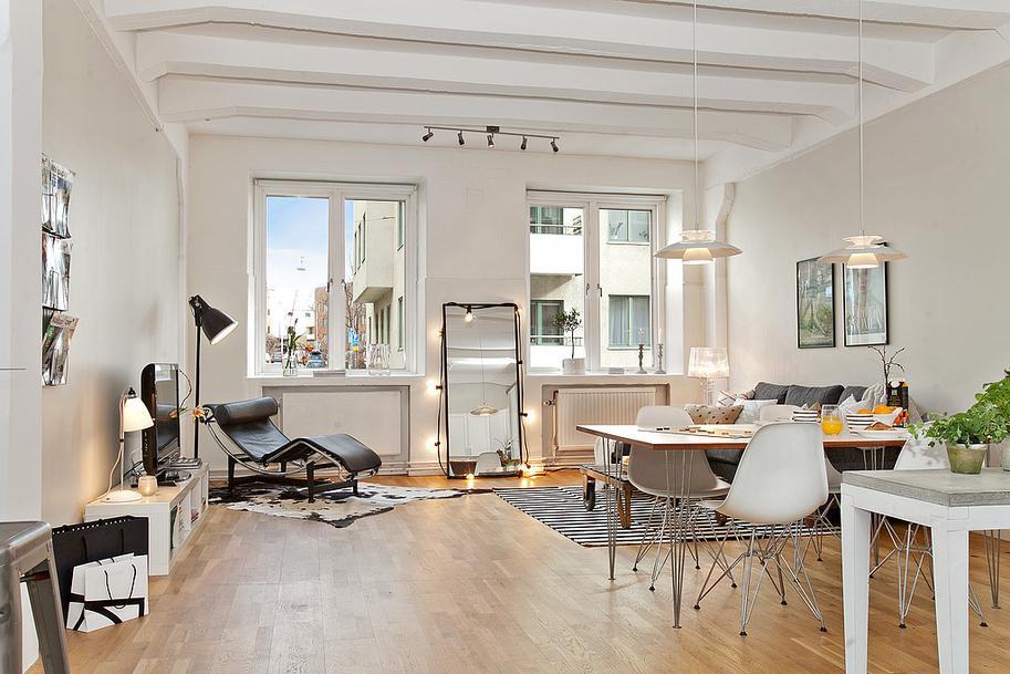 muebles escandinavos- ambientes cálidos