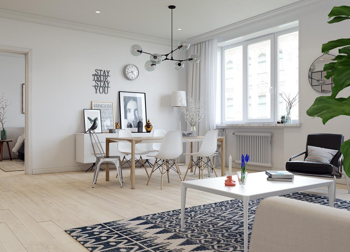 muebles escandinavos - textiles