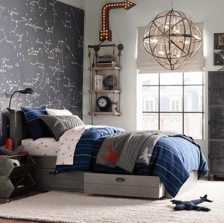 dormitorios juveniles modernos con pintura de pizarra