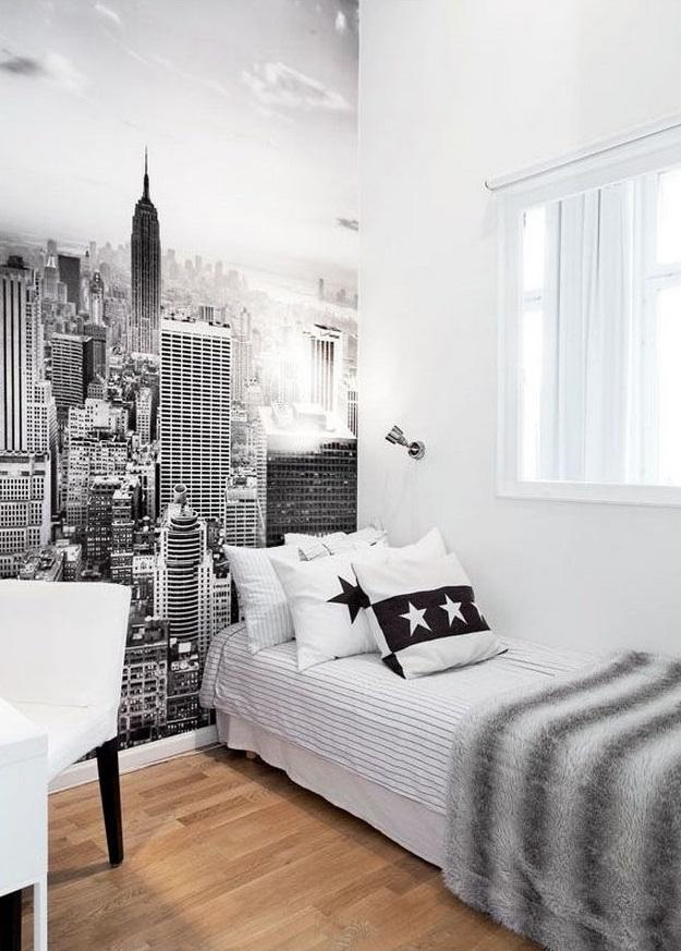 dormitorios juveniles modernos con murales