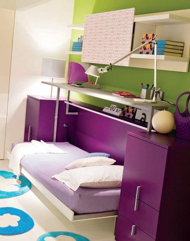 dormitorios juveniles modernos - camas abatibles