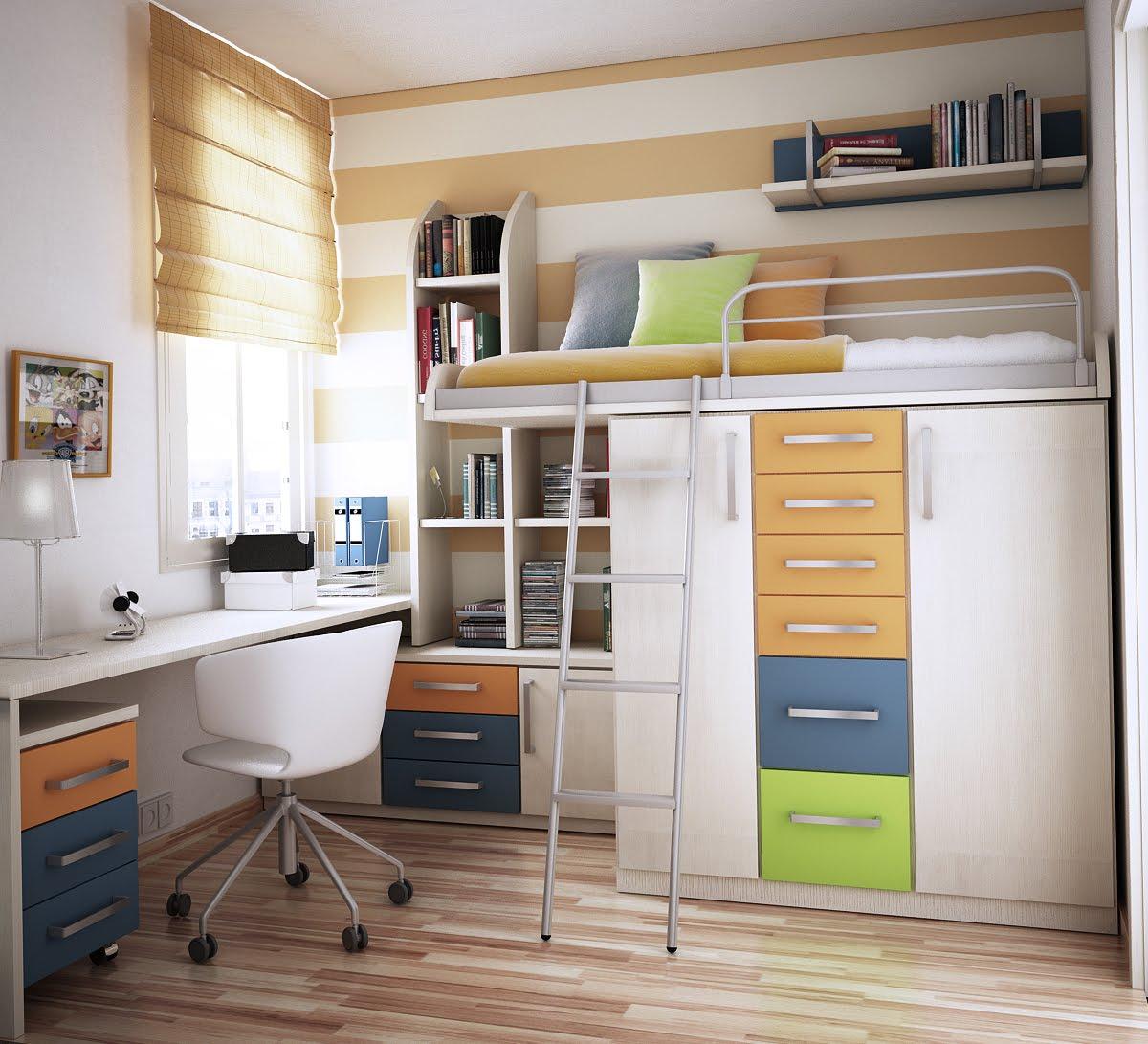 dormitorios juveniles modernos - muebles multifuncionales