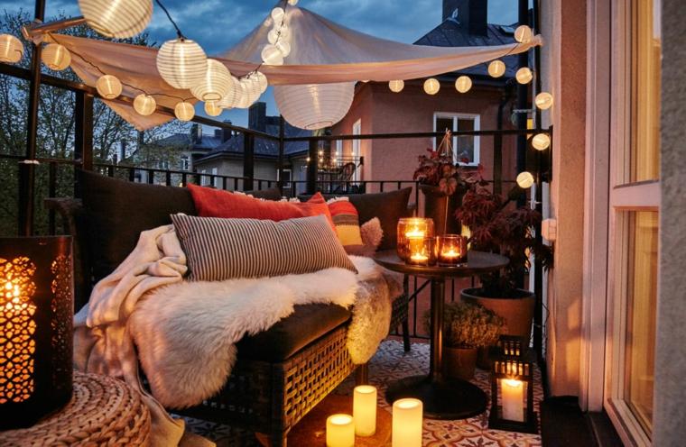 Decoración de terrazas - iluminación