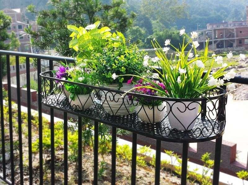 Decoración de terrazas - barandillas