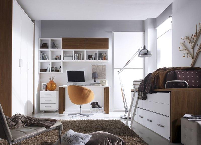 Dormitorios juveniles modernos en tonos marrones