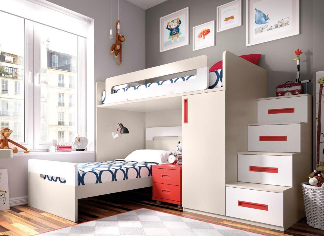 Dormitorios juveniles modernos con complementos