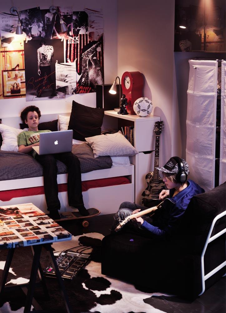 Dormitorios juveniles modernos compartidos