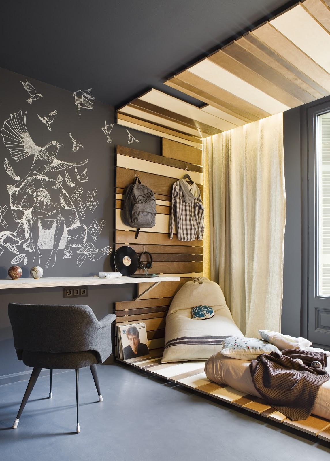 Dormitorios juveniles modernos decorados