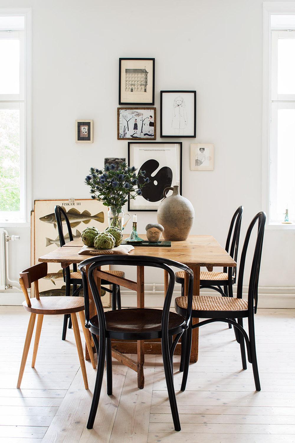 sillas de comedor con respaldo bajo
