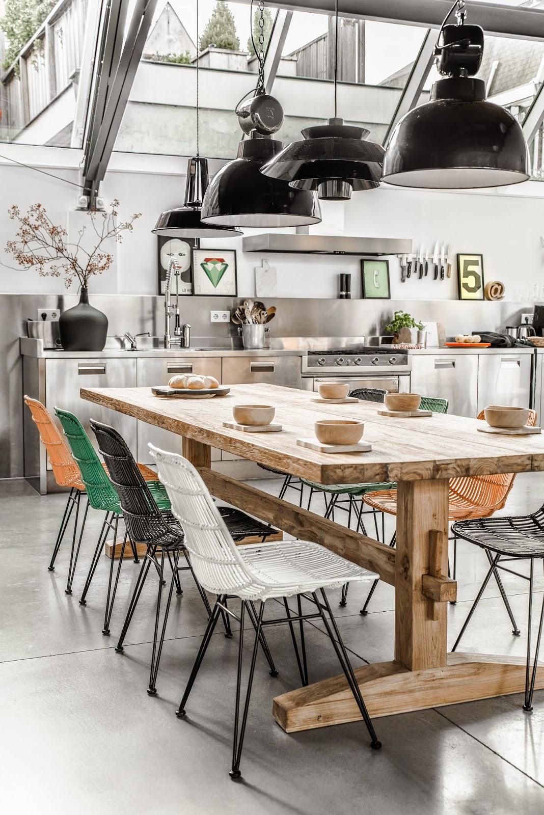 sillas de comedor en fibra vegetal