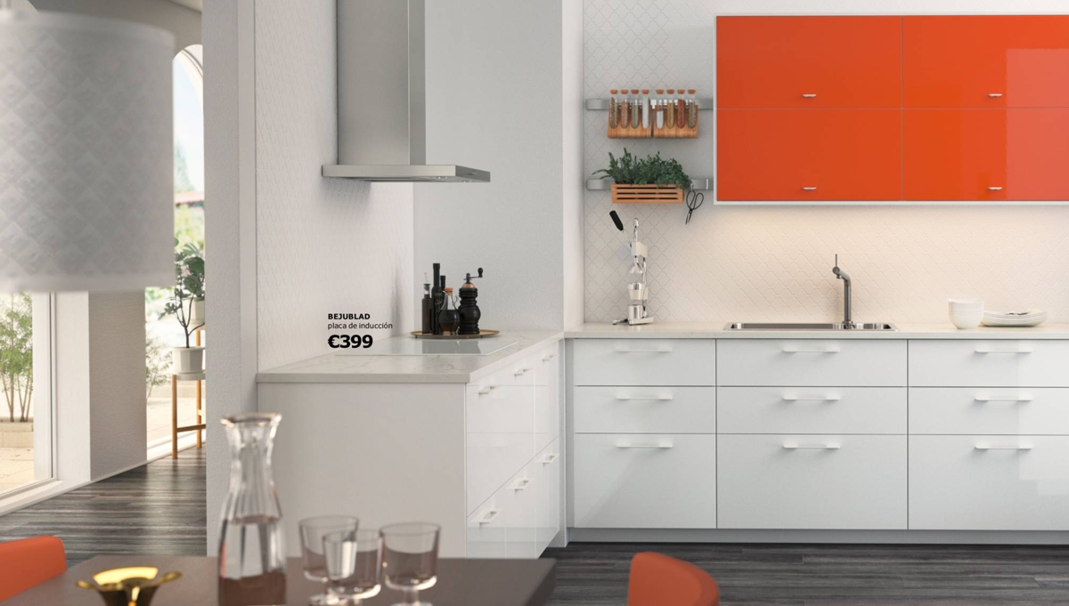 Cocinas Ikea - con color