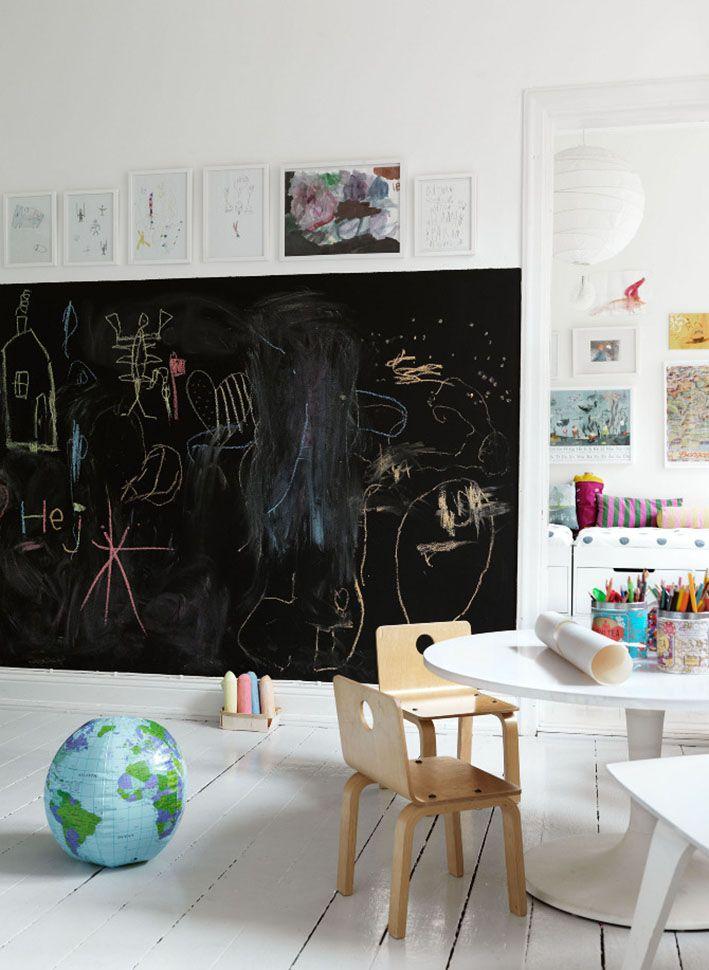 Habitaciones infantiles - pintura de pizarra