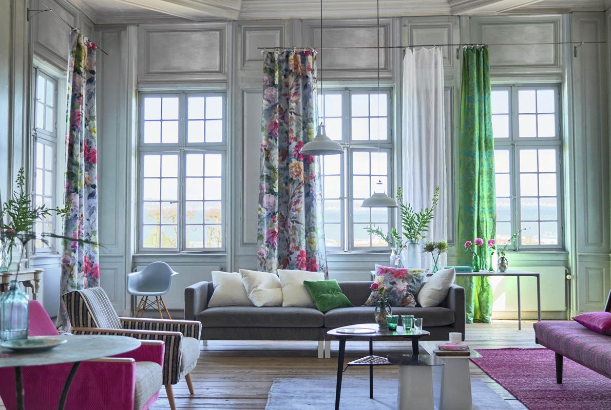 Decoración de interiores con estampados florales