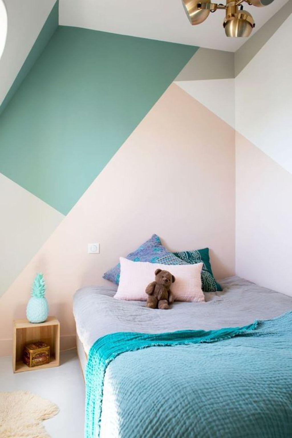 Decoración de interiores - paredes con formas geométricas