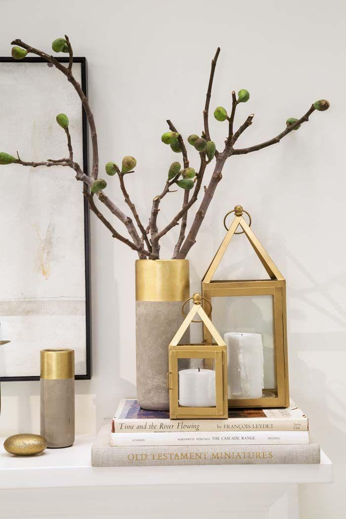 Decoración de interiores - complementos en dorado