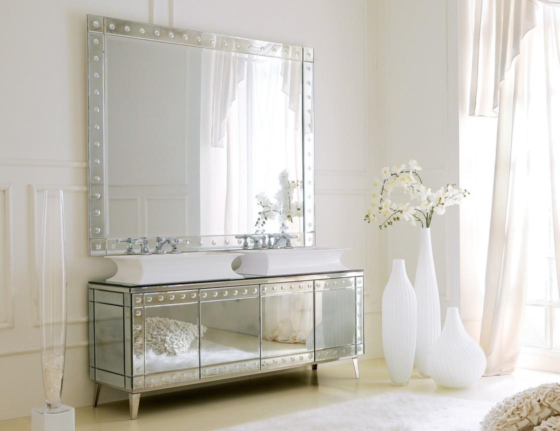 Decorar con espejos - muebles