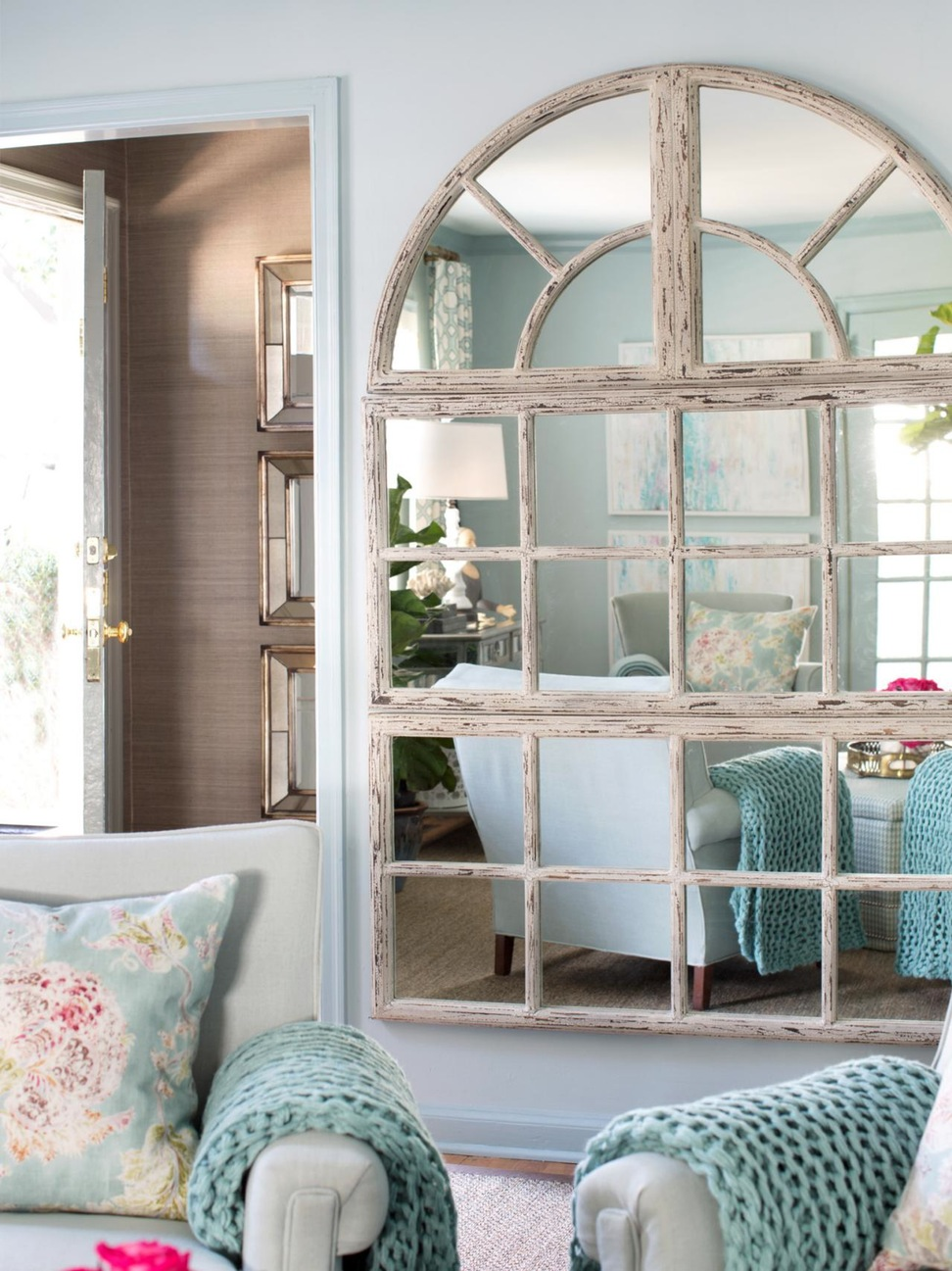 Decorar con espejos - en ventanas y puertas