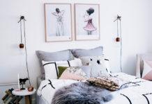 Cabeceros con cojines en tonos grises