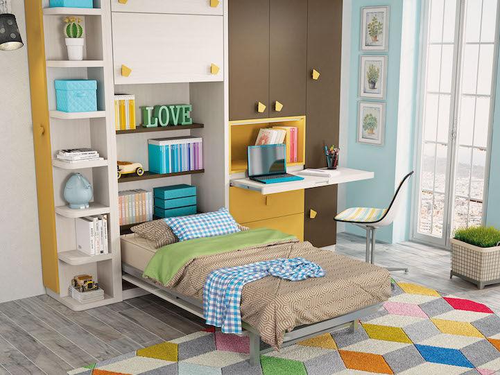 Cama plegable y cómoda - dormitorios juveniles